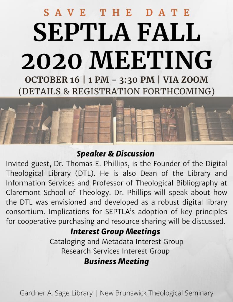 Fall 2020 Meeting Invitation