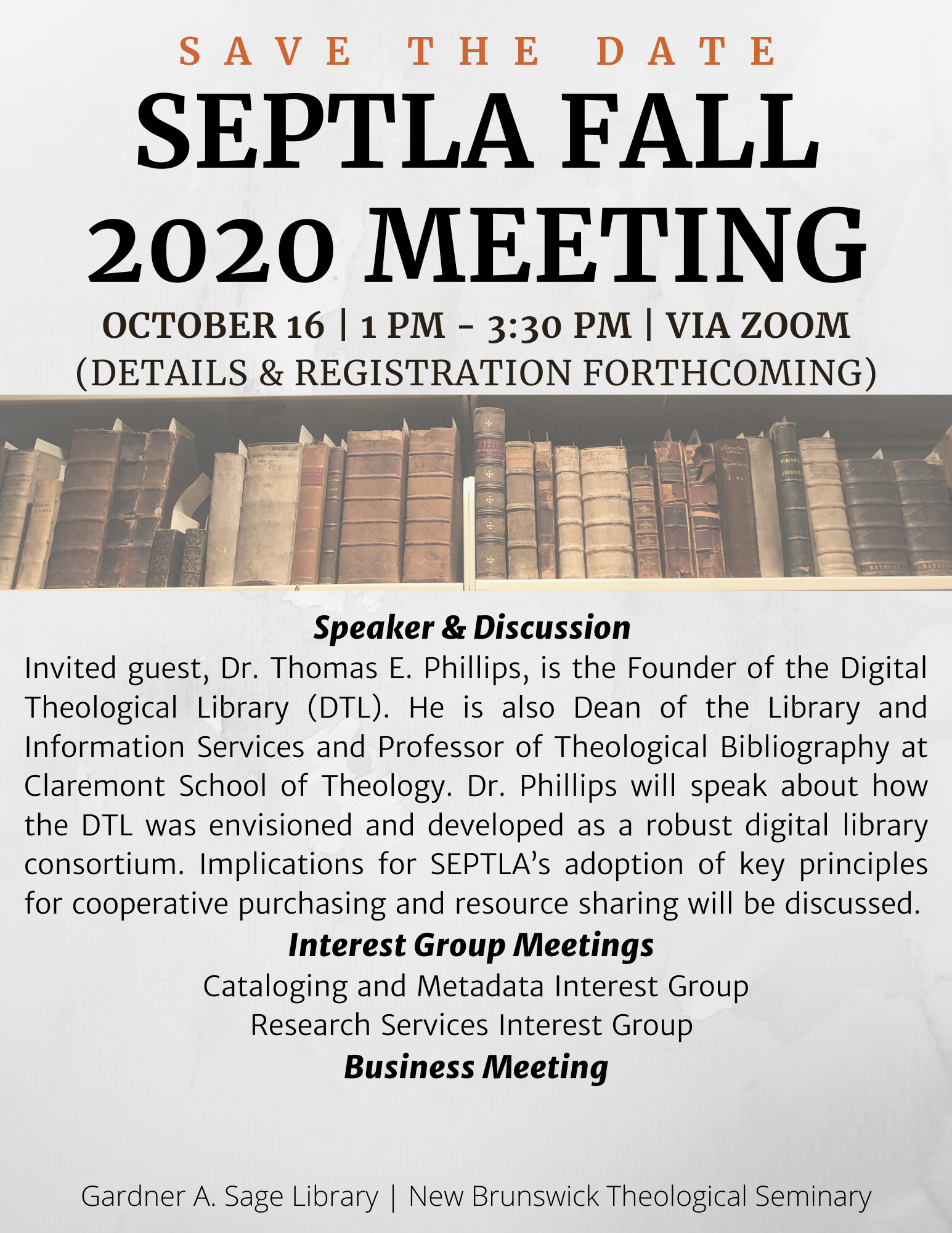 SEPTLA Fall Meeting 2020 Invitation